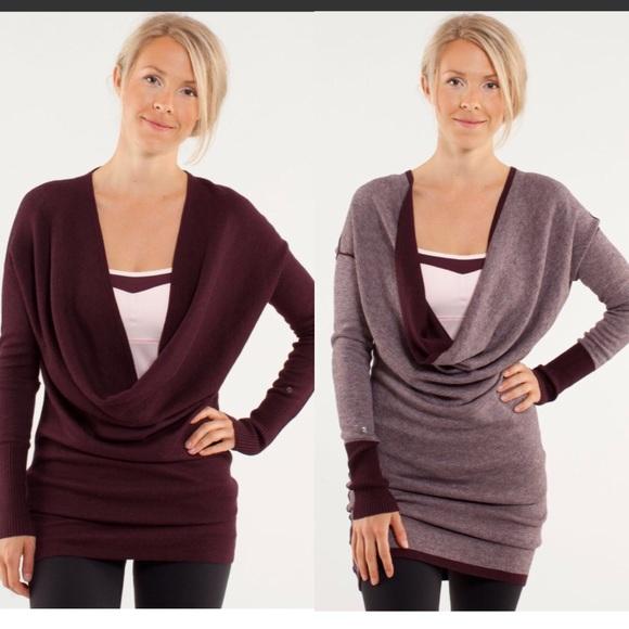 dda1474ab3d lululemon athletica Sweaters - Lululemon Serenity Convertible Sweater  Reversible